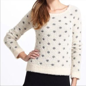 Moth Anthropologie Polka Dot Sweater